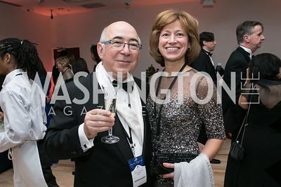 Charles Dahan, Mary Fuska. Photo by Alfredo Flores. Ambassadors Ball. Carnegie Library at Mt. Vernon. January 21, 2013.