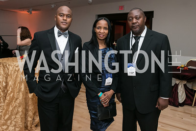 Masego Nkgomotsang, Dimakatso, Innocent Matengu. Photo by Alfredo Flores. Ambassadors Ball. Carnegie Library at Mt. Vernon. January 21, 2013.