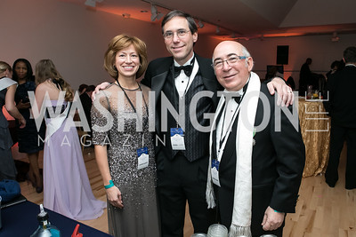 Mary Fuska, Craig Sable, Charles Dahan. Photo by Alfredo Flores. Ambassadors Ball. Carnegie Library at Mt. Vernon. January 21, 2013.