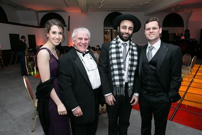 Bari Berger, Bill Runyon, Rabi Levy, Jessi Morrow. Photo by Alfredo Flores. Ambassadors Ball. Carnegie Library at Mt. Vernon. January 21, 2013.