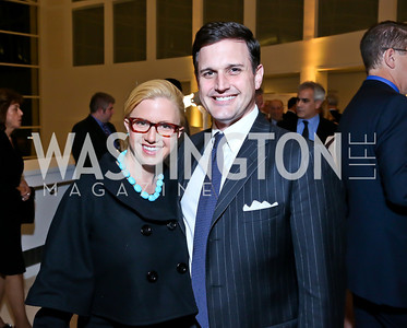 Christina Wilkie, Wilson Sumner. Photo by Tony Powell. Ploughshares Fund Gala 2013. Institute of Peace. October 28, 2013