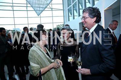 Priscilla Labovitz, Donna Scarboro, Ralph Steinhardt. Photo by Tony Powell. Ploughshares Fund Gala 2013. Institute of Peace. October 28, 2013