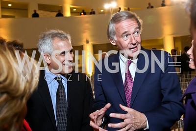 David Corn, Sen. Ed Markey. Photo by Tony Powell. Ploughshares Fund Gala 2013. Institute of Peace. October 28, 2013