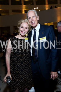 Lucy Lee and Dan Smith. Photo by Tony Powell. Ploughshares Fund Gala 2013. Institute of Peace. October 28, 2013
