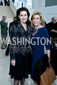 Alexandra de Borchgrave, Katherine Wood. Photo by Tony Powell. Ploughshares Fund Gala 2013. Institute of Peace. October 28, 2013