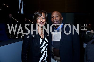 Pam Galloway-Tabb and Roy Tabb. Photo by Tony Powell. Anchorman II Q&A. Newseum. December 3, 2013