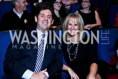 Steve Ross, Kelly Fischer. Photo by Tony Powell. Anchorman II Q&A. Newseum. December 3, 2013