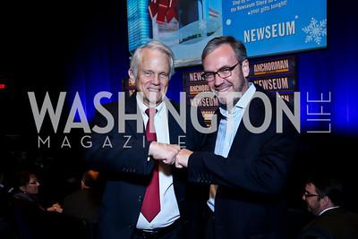 Shelby Coffey, Steve Capus. Photo by Tony Powell. Anchorman II Q&A. Newseum. December 3, 2013