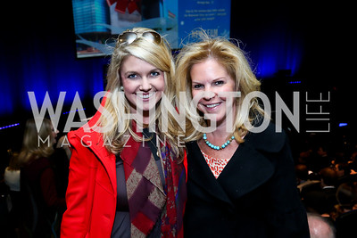 Cassie Mabery, Christine Arundel. Photo by Tony Powell. Anchorman II Q&A. Newseum. December 3, 2013