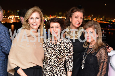 Jane Cafritz, JoAnn Mason, Anika Gaal Schott, Annie Totah, Miami Art Basel Kickoff Reception hosted by the Brillembourgs.  Wednesday, December 4th, 2013.  Photo by Ben Droz