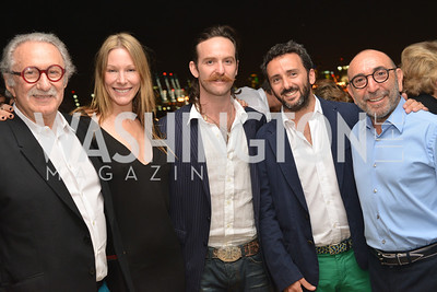 Edmundo Tonconogy, Shana Betz, Pablo Levinas, David Tonconogy, Dani Levinas, Miami Art Basel Kickoff Reception hosted by the Brillembourgs.  Wednesday, December 4th, 2013.  Photo by Ben Droz