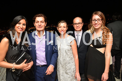 Agustina Casas, Edgar Batista, Alix Dionot-Morani, Fernando Batista, Emma Whitaker, Miami Art Basel Kickoff Reception hosted by the Brillembourgs.  Wednesday, December 4th, 2013.  Photo by Ben Droz