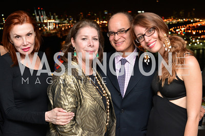 Dr. Barbara Buchwald, Alana Frumkes, Fernando Batista, Emma Whitaker, Miami Art Basel Kickoff Reception hosted by the Brillembourgs.  Wednesday, December 4th, 2013.  Photo by Ben Droz