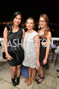 Augustina Casas, Alix Dionot-Morani, Emma Whitaker, Miami Art Basel Kickoff Reception hosted by the Brillembourgs.  Wednesday, December 4th, 2013.  Photo by Ben Droz