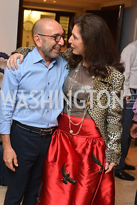 Dani Levinas, Corriene Bensahel, Miami Art Basel Kickoff Reception hosted by the Brillembourgs.  Wednesday, December 4th, 2013.  Photo by Ben Droz
