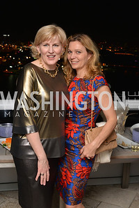Carol Bates, Anette Rosencreutz, Miami Art Basel Kickoff Reception hosted by the Brillembourgs.  Wednesday, December 4th, 2013.  Photo by Ben Droz