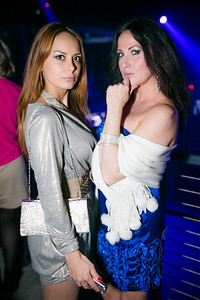 Anastasia Krashoperova, Eya Kereselidze.  Photo by Alfredo Flores. Art Soiree 4th Annual Winter Wonderland Show. Echostage‏. December 8, 2013.