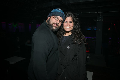 Andre Demoya, Maha Hakki.  Photo by Alfredo Flores. Art Soiree 4th Annual Winter Wonderland Show. Echostage‏. December 8, 2013.