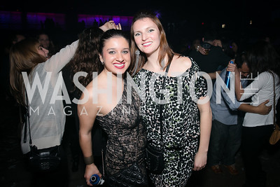 Eika Brown, Adeline Heymann.  Photo by Alfredo Flores. Art Soiree 4th Annual Winter Wonderland Show. Echostage‏. December 8, 2013.