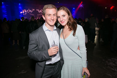 Andrew Plieninger, Daria Azarjew. Photo by Alfredo Flores. Art Soiree 4th Annual Winter Wonderland Show. Echostage‏. December 8, 2013.