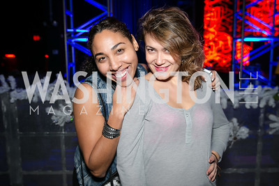 Laila Sanchez, Ana Ferreras. Photo by Alfredo Flores. Art Soiree 4th Annual Winter Wonderland Show. Echostage‏. December 8, 2013.