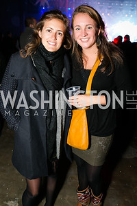 Dorothee Van Laethem, Laure-Anne Steverlynlk. Photo by Alfredo Flores. Art Soiree 4th Annual Winter Wonderland Show. Echostage‏. December 8, 2013.