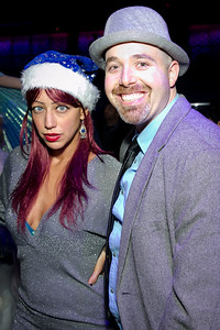 Aviv Ariel, Josh Kriger. Photo by Alfredo Flores. Art Soiree 4th Annual Winter Wonderland Show. Echostage‏. December 8, 2013.