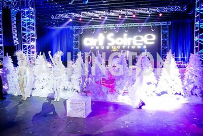 Photo by Alfredo Flores. Art Soiree 4th Annual Winter Wonderland Show. Echostage. December 8, 2013.