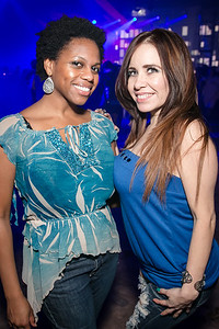 D'Nai Walker, Melissa Oliver. Photo by Alfredo Flores. Art Soiree 4th Annual Winter Wonderland Show. Echostage‏. December 8, 2013.