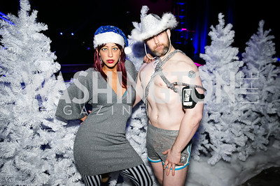 Kevin Nolan, Aviv Ariel. Photo by Alfredo Flores. Art Soiree 4th Annual Winter Wonderland Show. Echostage‏. December 8, 2013.
