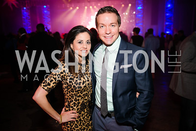 Gianna Fernandez, David Trinnes. Photo by Alfredo Flores. Art Soiree 4th Annual Winter Wonderland Show. Echostage‏. December 8, 2013.