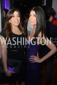 "Sanaz Noorbakhsh, Rana Movahed, Art Soiree hosts ""First-Term Retrospective"", a collection of critically acclaimed editorial cartoons.  MalMaison, Georgetown.  Photo by Ben Droz."