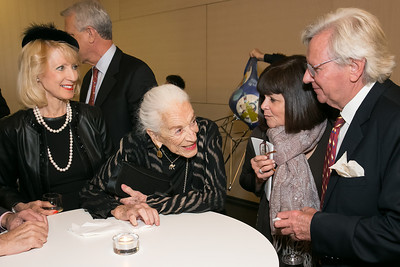 Joyce Hagel, Lolo Sarnoff, Susan Rosenbaum, Bill Dunlap. Photo by Alfredo Flores. Arts for the Aging 25th Anniversary Visions of Gold Gala.  Swiss Ambassador's residence. November 5, 2013