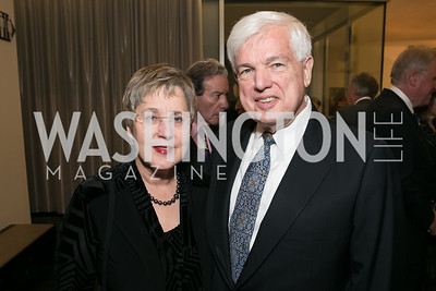 Nancy Bliss, Don Bliss. Photo by Alfredo Flores. Arts for the Aging 25th Anniversary Visions of Gold Gala.  Swiss Ambassador's residence. November 5, 2013