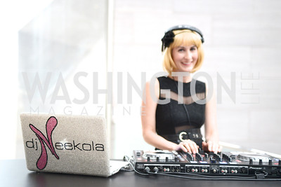 DJ Neekola, The Ballets Russes, at the National Gallery of Art.  Wednesday, May 8, 2013.  Photo by Ben Droz.