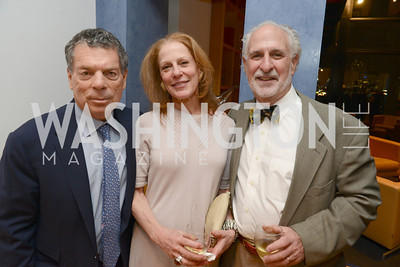 "Conrad Cafritz, Barbara Liotta, Robert Liotta, Book Party for ""Bolero"" by  Joanie McDonnell.   Hosted at the home of Jack Davies and Kay Kendall.  Friday, April 26th.  Photo by Ben Droz"