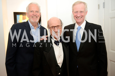 "Jack Davies, Finlay Lewis, Jack Evans, Book Party for ""Bolero"" by Joanie McDonnell.   Hosted at the home of Jack Davies and Kay Kendall.  Friday, April 26th.  Photo by Ben Droz"