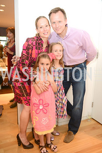 "Steve Kostorowski, Susan Kostorowski, Laila Kostorowski, Siema Kostorowski, Book Party for ""Bolero"" by  Joanie McDonnell.   Hosted at the home of Jack Davies and Kay Kendall.  Friday, April 26th.  Photo by Ben Droz"