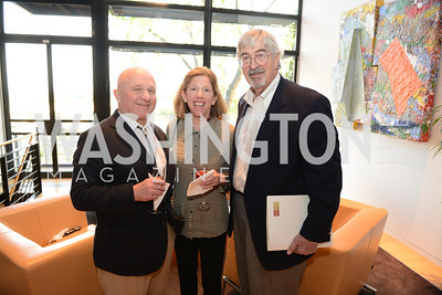 "Michael Mazer, Hannah, Forrest Williams, Book Party for ""Bolero"" by  Joanie McDonnell.   Hosted at the home of Jack Davies and Kay Kendall.  Friday, April 26th.  Photo by Ben Droz"