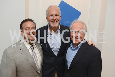 """Raul Fernandez, Jack Davies, Bernard Aronson, Book Party for """"Bolero"""" by  Joanie McDonnell.   Hosted at the home of Jack Davies and Kay Kendall.  Friday, April 26th.  Photo by Ben Droz"""