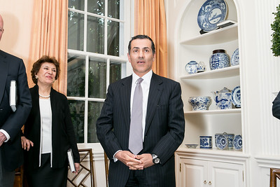 Vali Nasr. Photo by Alfredo Flores. Book Party for Dr. Vali Nasr's The Dispensable Nation. Ann and Bill Nitze Residence. May 13, 2013