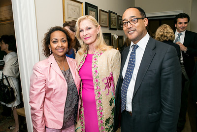 Saba Kebede, Susan Pillsbury, Ermias Sahle-Selassie. Photo by Alfredo Flores. Book Party for Dr. Vali Nasr's The Dispensable Nation. Ann and Bill Nitze Residence. May 13, 2013
