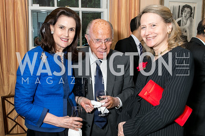 Alexandra de Borchgrave, Arnaud de Borchgrave, Laura Bisogniero. Photo by Alfredo Flores. Book Party for Dr. Vali Nasr's The Dispensable Nation. Ann and Bill Nitze Residence. May 13, 2013