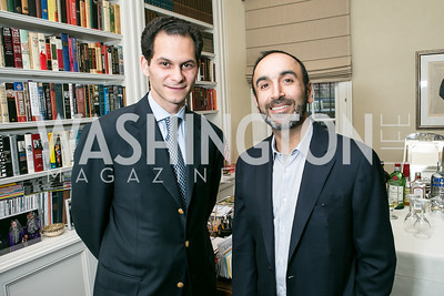 Ali-Reza Vahabzardeh, Hossein Fateh. Photo by Alfredo Flores. Book Party for Dr. Vali Nasr's The Dispensable Nation. Ann and Bill Nitze Residence. May 13, 2013