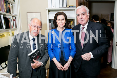 Arnaud de Borchgrave, Alexandra de Borchgrave, Michael Butler. Photo by Alfredo Flores. Book Party for Dr. Vali Nasr's The Dispensable Nation. Ann and Bill Nitze Residence. May 13, 2013