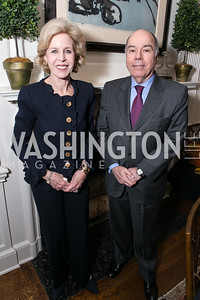 Ann Nitze, Mauro Vieira. Photo by Alfredo Flores. Book Party for Dr. Vali Nasr's The Dispensable Nation. Ann and Bill Nitze Residence. May 13, 2013