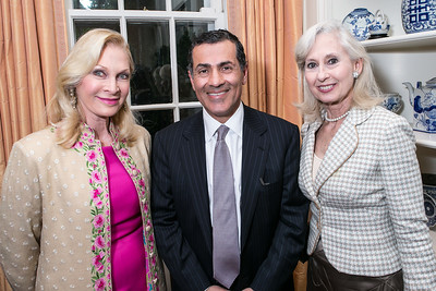 Susan Pillsbury, Vali Nasr, Willee Lewis. Photo by Alfredo Flores. Book Party for Dr. Vali Nasr's The Dispensable Nation. Ann and Bill Nitze Residence. May 13, 2013