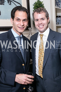 Ali-Reza Vahabzardeh, Paul Nitze. Photo by Alfredo Flores. Book Party for Dr. Vali Nasr's The Dispensable Nation. Ann and Bill Nitze Residence. May 13, 2013