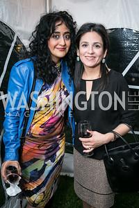 Sheila Molavi, Roshanak Ameli Tehrani. Book Party for Dr. Vali Nasr's The Dispensable Nation. Liaquat and Meena Ahamed Residence. May 14, 2013.