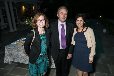 Anna Fifield, Ed Luce, Neera Tanden. Book Party for Dr. Vali Nasr's The Dispensable Nation. Liaquat and Meena Ahamed Residence. May 14, 2013.